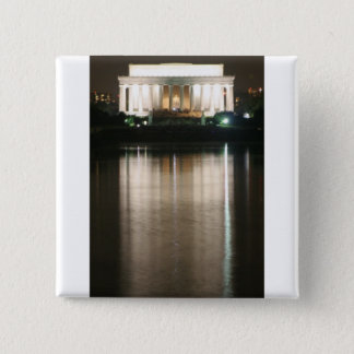 Lincoln Memorial Night Reflection 15 Cm Square Badge