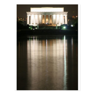 Lincoln Memorial Night Reflection Postcard