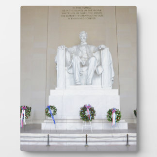 Lincoln Memorial. Plaque