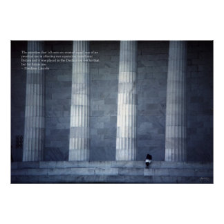Lincoln Memorial Quote Poster