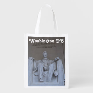 Lincoln Memorial Reusable Grocery Bag