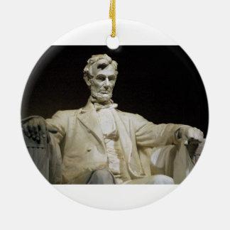 Lincoln Memorial Round Ceramic Decoration