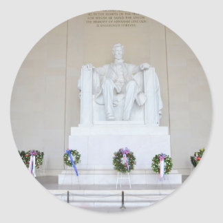Lincoln Memorial. Round Sticker