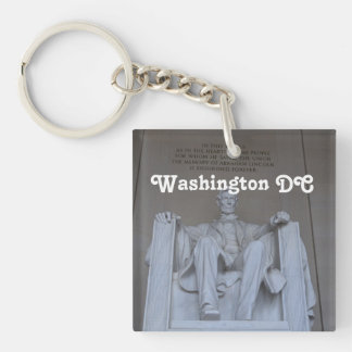 Lincoln Memorial Single-Sided Square Acrylic Key Ring