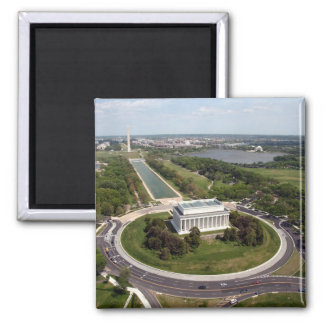 Lincoln Memorial Square Magnet