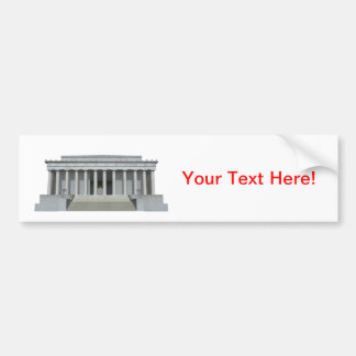 Lincoln Memorial: Washington DC Bumper Sticker