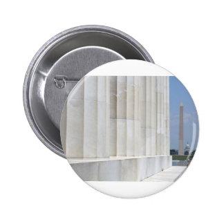 lincoln memorial washington monument buttons