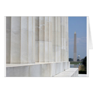 lincoln memorial washington monument greeting card