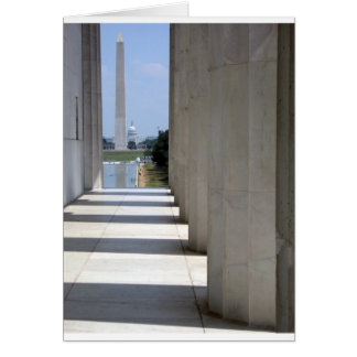 lincoln memorial washington monument card