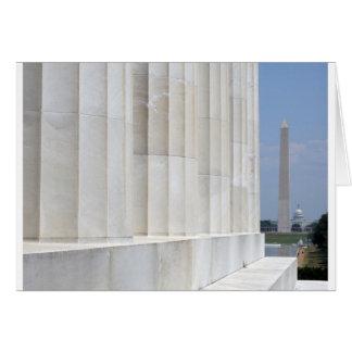 lincoln memorial washington monument greeting card