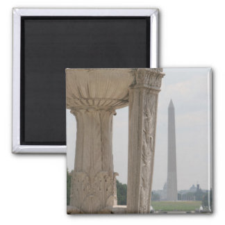lincoln memorial washington monument square magnet