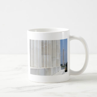 lincoln memorial washington monument coffee mugs