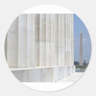 lincoln memorial washington monument sticker