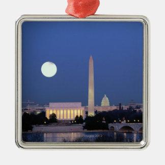 Lincoln Memorial, Washington Monument, US Christmas Ornament