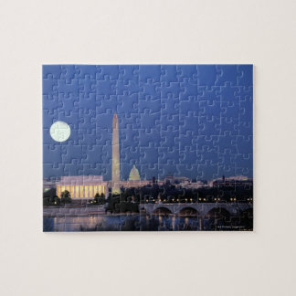 Lincoln Memorial, Washington Monument, US Jigsaw Puzzle