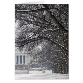 lincoln memorial winter snow card