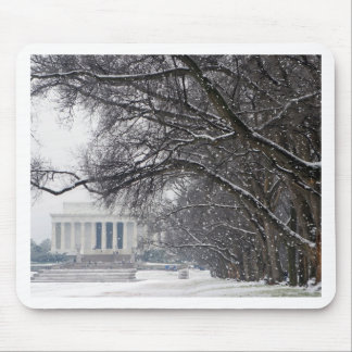 lincoln memorial winter snow mouse pad