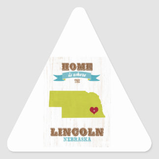 Lincoln Nebraska Map – Home Is Where The Heart Is Sticker
