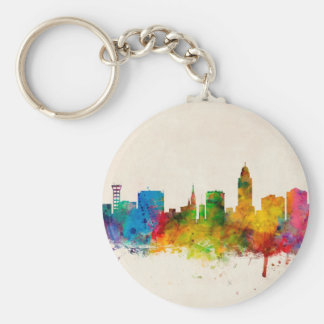 Lincoln Nebraska Skyline Key Chain