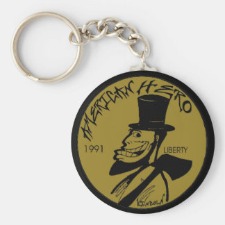 Lincoln Penny From Hell Basic Round Button Key Ring