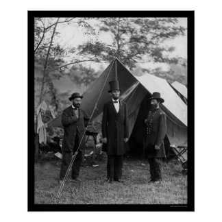 Lincoln, Pinkerton, and McClernand 1862 Print
