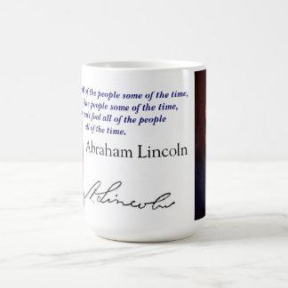 lincoln quote basic white mug