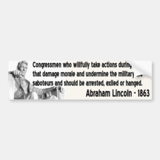 lincoln quote bumper sticker