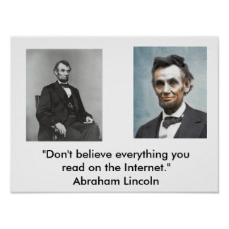 Lincoln Quote Poster