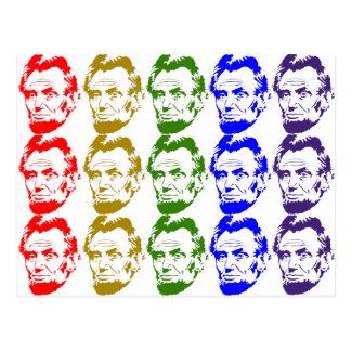 Lincoln Rainbow Art Print Postcard