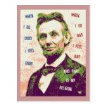 Lincoln Religion Postcard