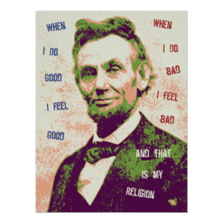 Lincoln Religion Poster