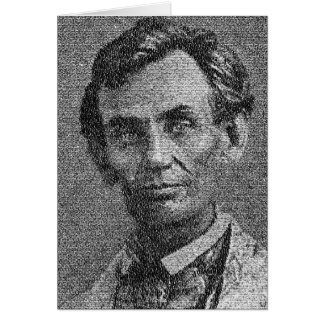 Lincoln Rendered with Gettysburg Address Card