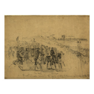 Lincoln Reviewing the Army–April 1863 Print