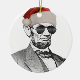 Lincoln Secret Santa Christmas Tree Ornament