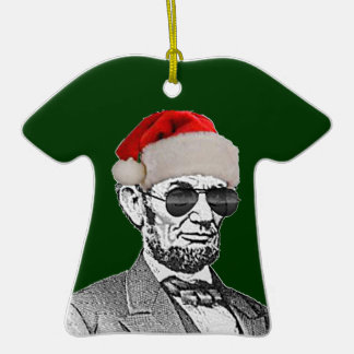 Lincoln Secret Santa T-shirt Ornament NEW