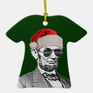 Lincoln Secret Santa T-shirt Ornament (NEW)