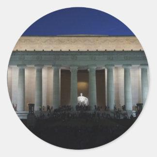 Lincoln Round Sticker