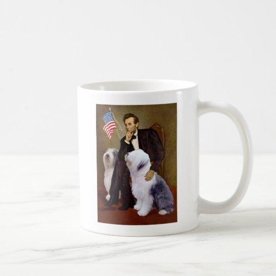 Lincoln - Two Old English Sheepdogs Coffee Mug