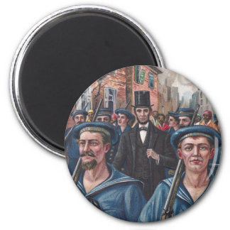 Lincoln Visiting Richmond VA in 1865 Refrigerator Magnet
