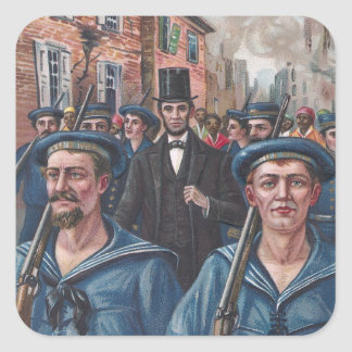 Lincoln Visiting Richmond VA in 1865 Sticker