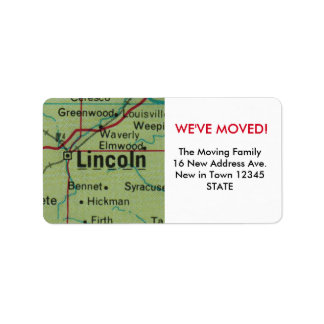 Lincoln We've Moved label
