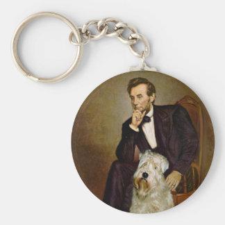 Lincoln - Wheaten Terrier 7 Basic Round Button Key Ring