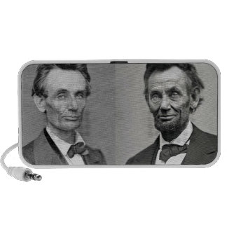 Lincoln With and Without a Beard Laptop Speakers