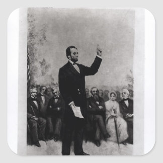 Lincoln's Address at Gettysburg, 1895 Square Sticker