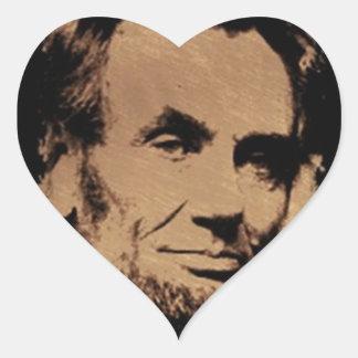 Lincoln's Mug Heart Stickers