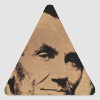 Lincoln's Mug Triangle Sticker