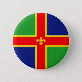 Lincolnshire flag united kingdom great britain   e 6 cm round badge