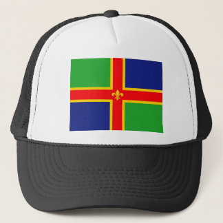 Lincolnshire flag united kingdom great britain   e trucker hat