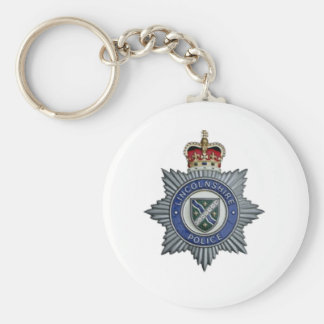 Lincolnshire Police Souvenir Basic Round Button Key Ring