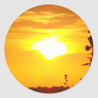 Lincolnshire Sunrise 3 Classic Round Sticker